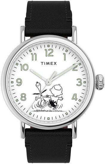 TIMEX Standard x Peanuts 70th Anniversary 40mm Leather Strap Watch TW2U71100